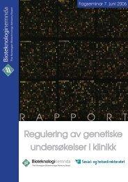 R A P P O R T - Bioteknologinemnda