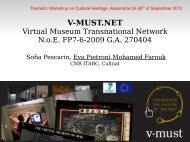 Virtual Museum Transnational Network - LinkSCEEM