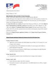 2013-2014 MISD Magnet Application Timeline - Midland ...