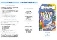 les paroisses du secteur du haut-lac - Paroisses catholiques du ...