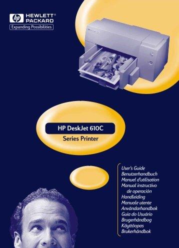 Drucker der Serie DeskJet 610C Benutzerhandbuch - Hewlett Packard