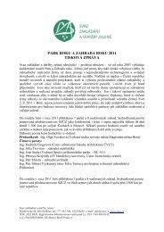 park roku a zahrada roku 2011 tisková zpráva - Svaz zakládání a ...