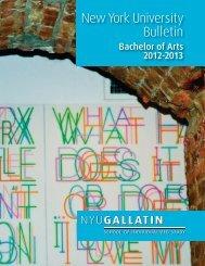 New York University Bulletin - Gallatin School of Individualized ...