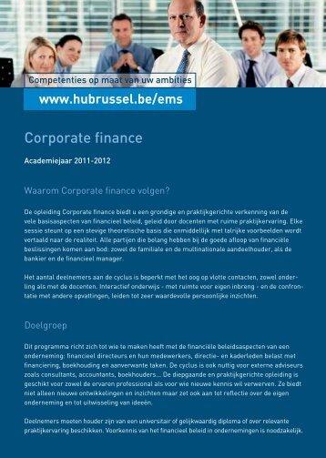 Corporate finance - HUBRUSSEL.net