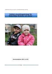 Politisk utvecklingsstrategi för Södertäljes förskolor och skolor