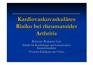 Kardiovaskuvaskuläres Risiko bei rheumatoider Arthritis - Vivantes