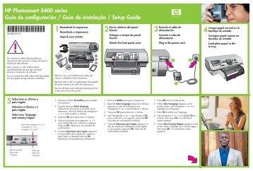 HP Photosmart 8400 series Guía de configuración ... - Hewlett Packard