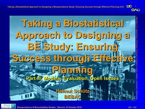 Part III - BEBAC • Consultancy Services for Bioequivalence