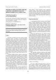 metody sledování změn obsahu laktosy a dalších ... - Chemické listy