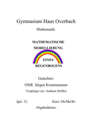 Mathematische Modellierung eines Regenbogens