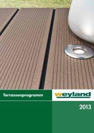 Terrassenprogramm 2013 - Weyland GmbH