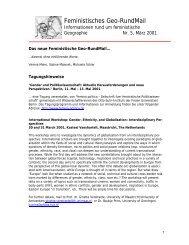 Nr. 5, März 2001 - AK Geographie und Geschlecht