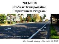 Six-Year TIP Update Presentation - City of Mountlake Terrace