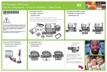 1Desembale la impresora - Hewlett Packard