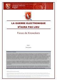 la guerre electronique n'aura pas lieu - Base de connaissance AEGE