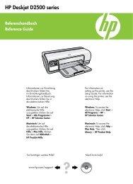 HP Deskjet D2500 series - Hewlett Packard