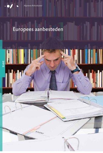Rapport Europees aanbesteden - Algemene Rekenkamer