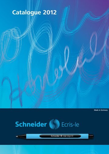 Catalogue 2012 - Schneider Schreibgeräte GmbH