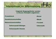 Differenzierung 2010/2011 - Theodor-Heuss-Schule