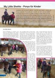 My Little Shettie - Ponys für Kinder - Stallgefluester
