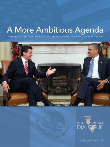 A More Ambitious Agenda - Inter-American Dialogue