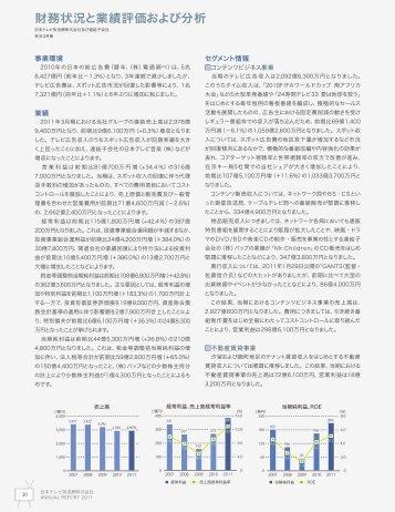 財務状況と業績評価および分析 - 日本テレビホールディングス株式会社