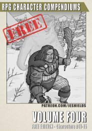 RPG Character Compendiums, Volume 4 - Free Edition #11-15