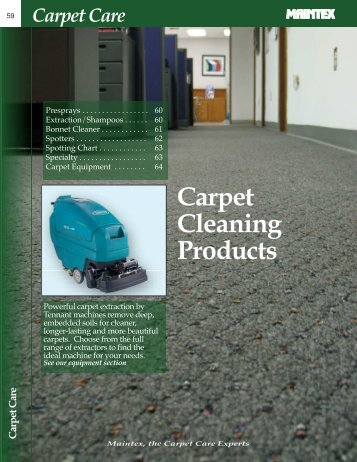 Carpet Cleaning Products - Maintex
