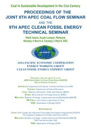 Proceedings - Expert Group on Clean Fossil Energy - Asia-Pacific ...