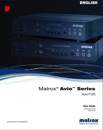 Matrox Avio Series User Guide
