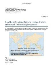 Galathea 3-ekspeditionen - Forsvarsakademiet