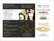 Faculty Development Program in Mathematics (FDP-2012)