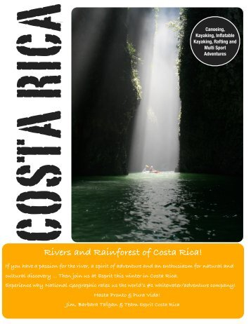 Rivers and Rainforest of Costa Rica! - Esprit Rafting Adventures