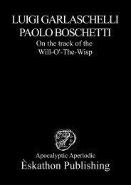 LUIGI GARLASCHELLI PAOLO BOSCHETTI - Radical Matters