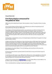 PRESS RELEASE The Jubilee Air Show first flying announced