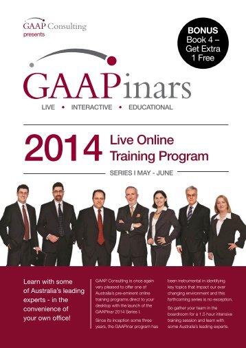 GAAPinar_2014_Series_I_-_Brochure