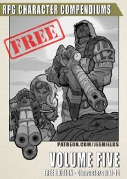 RPG Character Compendiums, Volume 5 - Free Edition #11-15
