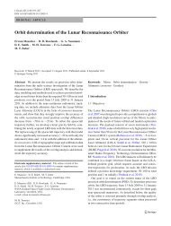 Orbit determination of the Lunar Reconnaissance Orbiter - Earth and ...