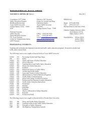 Dr. Dennis' long resume - Texas A&M Transportation Institute