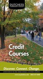F A L L 2011 Credit Courses - Dutchess Community College