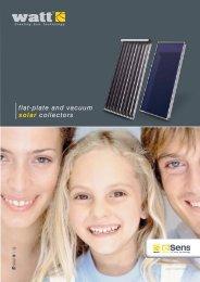 flat-plate and vacuum solar collectors - Watt