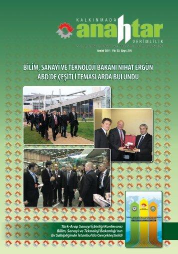 Aralık 2011 Sayı:276 - Verimlilik Genel Müdürlüğü - Bilim, Sanayi ve ...