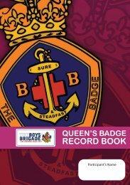 Download Queen's Badge Record Book - The Boys' Brigade