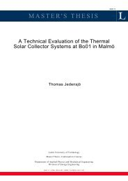 A Technical Evaluation of the Thermal Solar Collector Systems at ...