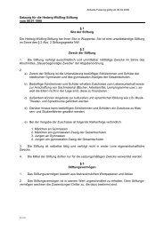 Satzung Stiftung Hedwig-Wülfing - Stadt Wuppertal