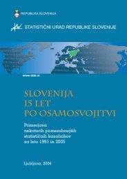 Slovenija 15 let po osamosvojitvi - Statistični urad Republike Slovenije