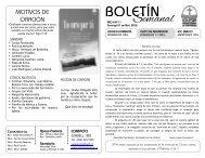 boletín - Iglesia Presbiteriana de Valparaiso
