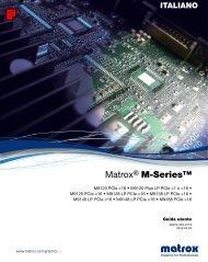 Guida utente Matrox M-Series
