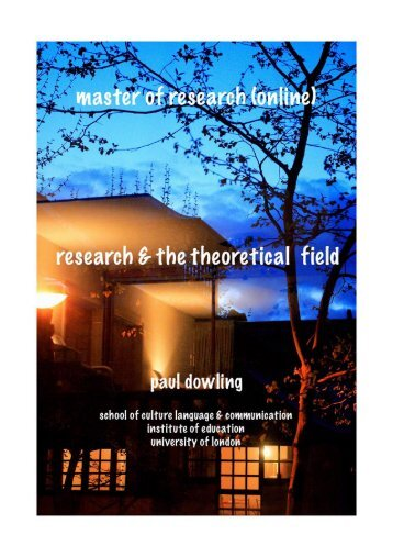 Research and the Theoretical Field - Pauldowling.me