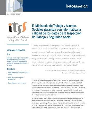 La Inspección de Trabajo y Seguridad Social (ITSS) - Informatica